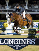 Horse jumping - Malin Baryard Johnsson — Stock Photo