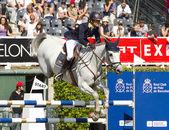 Horse jumping - Katharina Offel — Stock Photo