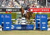 Horse jumping - Pedro Veniss — Stock Photo