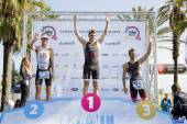 Barcelona Triathlon podium — Stock Photo