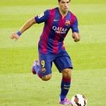 Постер, плакат: Luis Suarez of FC Barcelona