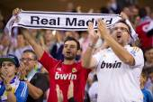 Real Madrid supporters — Stock Photo
