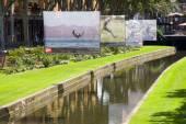 Photo exhibition in Perpignan — Stock Photo