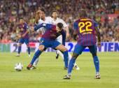 Football action — Stock Photo