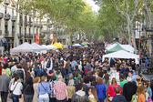 Sant Jordi Day in Barcelona — Stock Photo