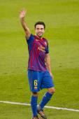 Xavi of FC Barcelona — Stock Photo