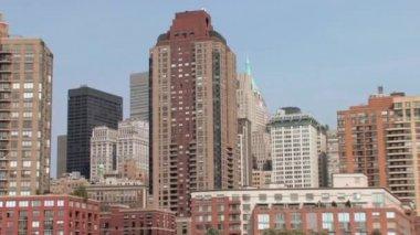 New York city skyline — Stock Video