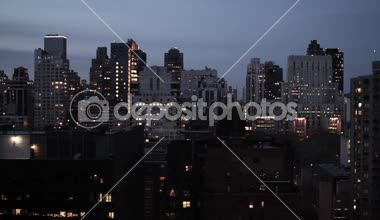 NYC night skyline — Vídeo stock