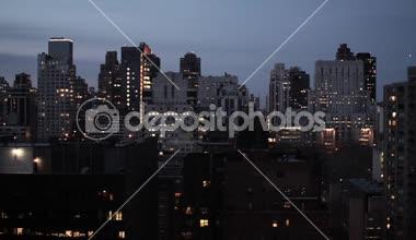 NYC night skyline — Stock Video