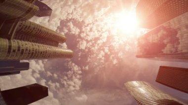 Modern skyline buildings — Stock Video