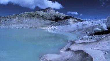 Glacier lake — Stock Video