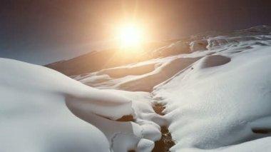 Winter snow mountains — Stock Video