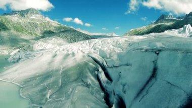 Glacier mountain landscape. — Stock Video