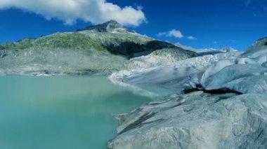 Turquoise glacier landscape — Stock Video