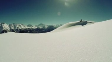 Snowcapped landscape — Stock Video