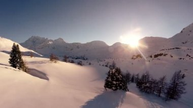 Fly over mountains — Stock Video
