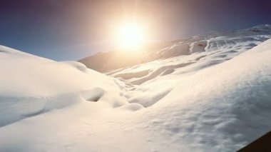 Winter snow mountains — Wideo stockowe