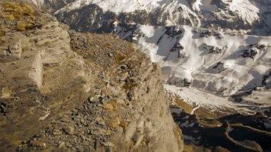 Panorama of snow mountains. — Stock Video