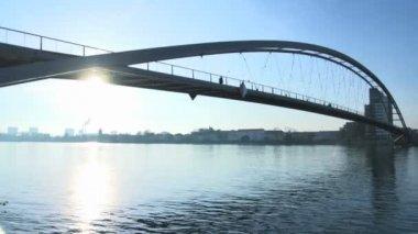 Bridge background. — Stock Video