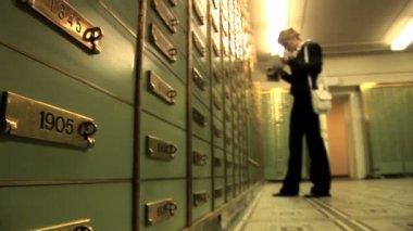 Women in locker room. — Stock Video