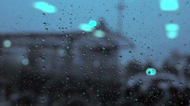 Rainy window — Stock Video