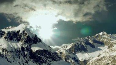 Snow mountain panorama — Stock Video