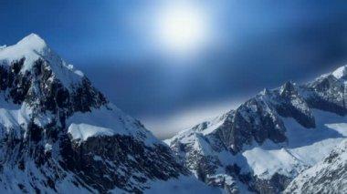 Snow mountain background. — Stock Video