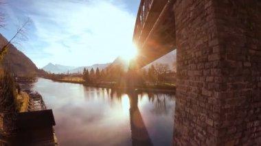 Bridge over water — Stock Video