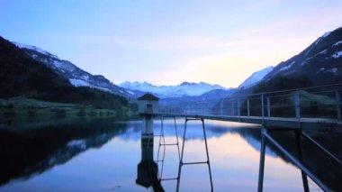 Lake panorama view. — Stock Video