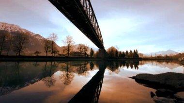 Bridge river — Stock Video