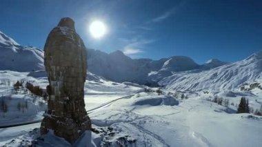 Snow winter landscape. — Stock Video