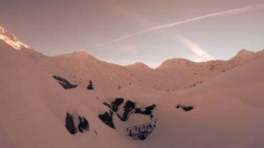 Winter snow landscape. — Stock Video