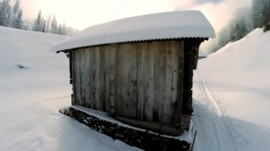Snow winter resort. — Stockvideo