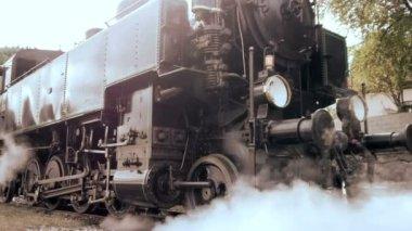 Train railroads tracks. — Vídeo de stock