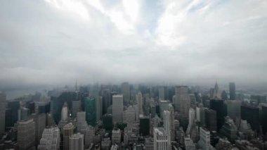 Time-lapse New York City Manhattan skyline — Stock Video
