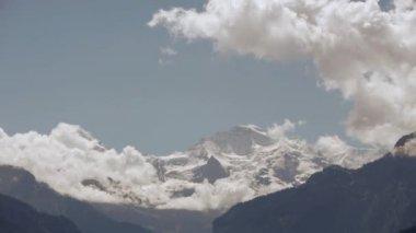 Mountains glacier landscape — Stock Video