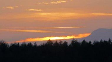 Sunset dusk Sky — Stock Video