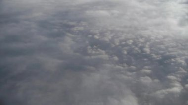 Clouds from flying airplane — Stock Video