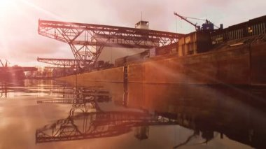 Heavy crane construction. — Stock Video