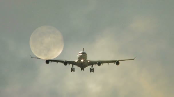 Plane arriving to airport — Vidéo