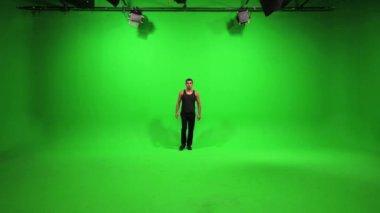 Male model walking towards camera — Stock Video