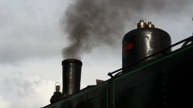 Nostaljik lokomotif tren — Stok video