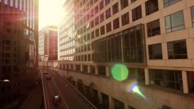 Glass office buildings — Stock Video