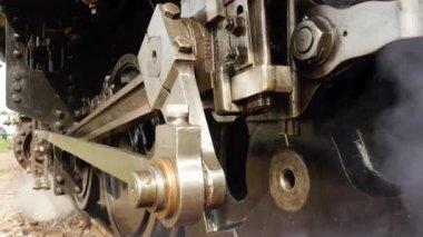 Steam engine train wheels — Stok video