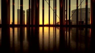 Intérieur de verre moderne — Vidéo