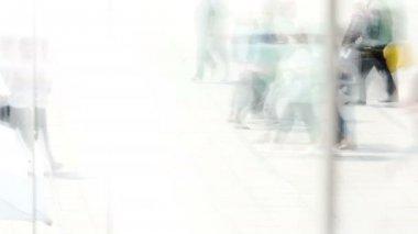 People walking on street — Vídeo de Stock
