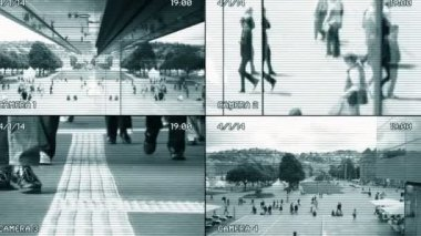 Surveillance monitoring of people — Stockvideo