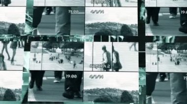 Surveillance of people walking — Stock Video