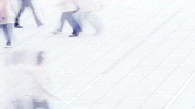 People walking on street — Stock Video