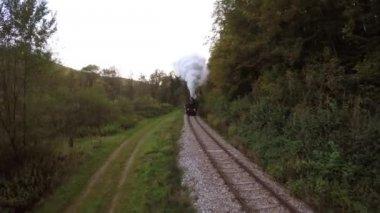 Steam engine locomotive — Stock Video